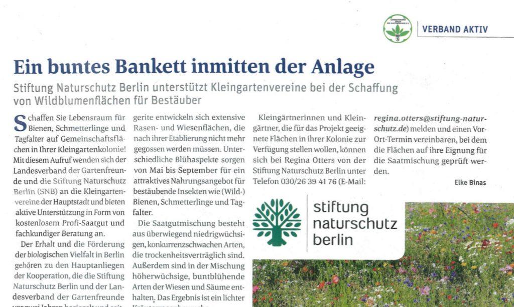 Kooperation mit der Stiftung Naturschutz
